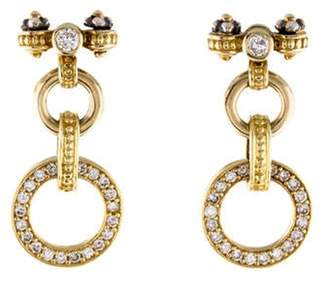 Lagos Diamond Caviar Circle Drop Earrings yellow Diamond Caviar Circle Drop Earrings