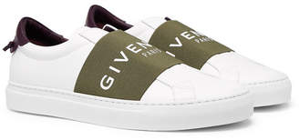 Givenchy Urban Street Logo-Print Leather Slip-On Sneakers - Men - White
