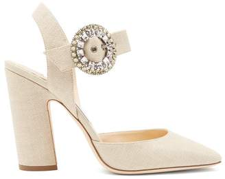Jimmy Choo Mischa 100 Crystal Embellished Pumps - Womens - Cream