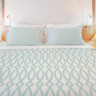 One Bella Casa Minty Fresh Lightweight Duvet Cover