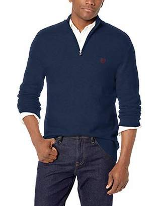 Chaps Men's Classic Fit Textured Quarter Zip Sweater