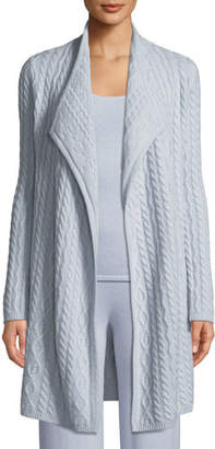 Neiman Marcus Cashmere Cable-Knit Cardigan