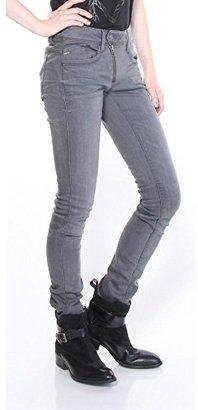 G-Star Raw Women's Lynn Zip Midrise Skinny Slander Grey Super Stretch Medium Aged Jean $180 thestylecure.com
