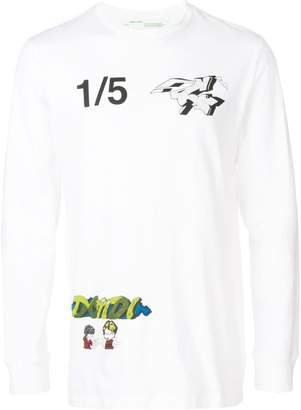 Off-White graffiti print T-shirt