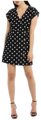 NEW Tokito Button Feature Wrap Dress - Polka Dot Assorted