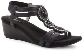 Bandolino Harman T-Strap Wedge Sandals