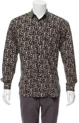 Saint Laurent 2014 Printed Button-Up Shirt