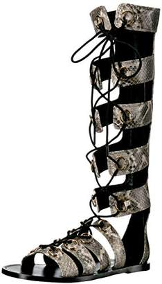 Nine West Women's Tirion Snake Gladiator Sandal