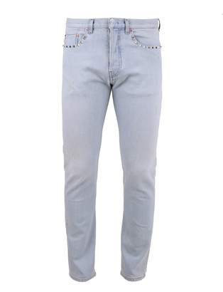 Valentino Blue Studs Applied Jeans