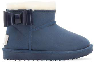 MonnaLisa Rubber & Faux Sheraling Snow Boots