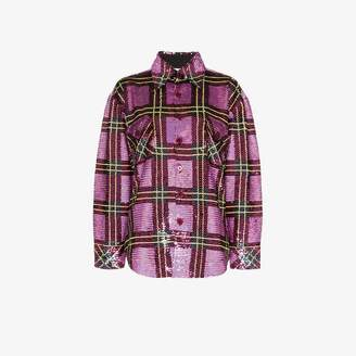 Ashish plaid sequin embellished shirt