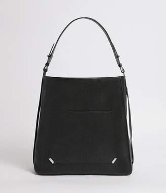 AllSaints Vincent Leather North South Tote Bag