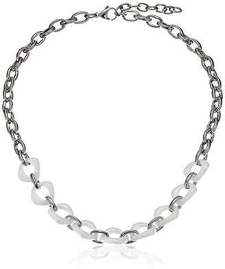 SteelX Stainless Steel and Ceramic Link Chain Necklace