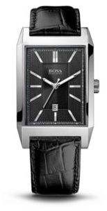 Hugo Boss 1512915 Black Crocodile Embossed Leather Strap 3-Hand Quartz Watch One Size Assorted-Pre-Pack