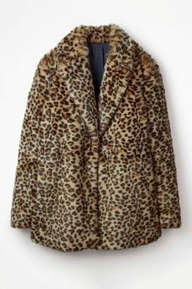 Next Womens Boden Brown Boxgrove Faux Fur Coat