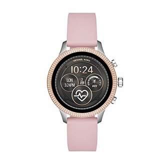 Michael Kors Womens Runway Touchscreen Smartwatch Stainless Steel Leather watch