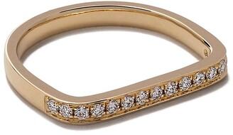 As 29 AS29 18kt yellow gold Mini Charm diamond ring