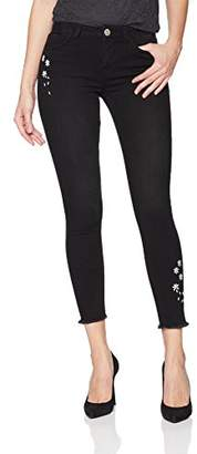 Desigual Women's Louane Embroidered Detail Denim Trousers