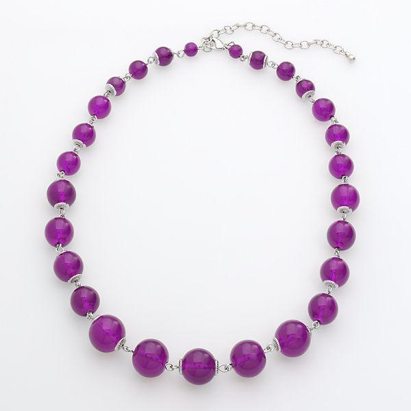 Croft & Barrow® Silver-Tone Beaded Necklace