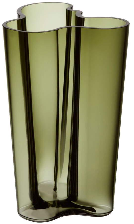 Aalto Vase Finlandia 251 mm, Moosgrün
