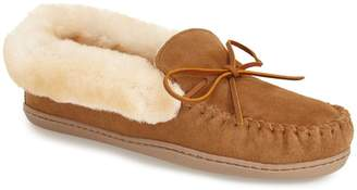 Minnetonka 'Alpine' Genuine Shearling Moccasin Slipper