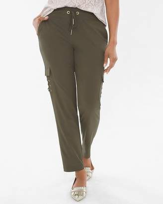 Chico's Chicos Lightweight Neema Lace-Up Cargo Pants