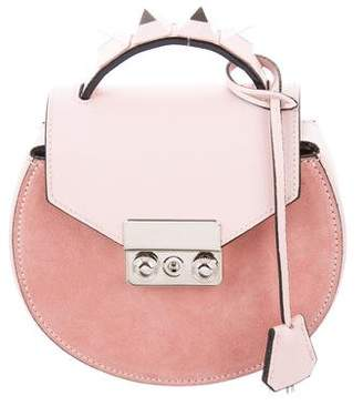 Salar Studded Mini Circle Crossbody Bag