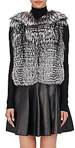 J. Mendel Women's Fur & Sequined Vest - Gray