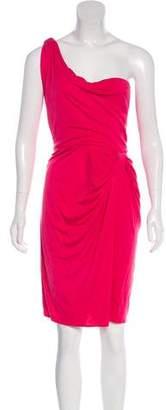 Issa One-Shoulder Knee-Length Dress