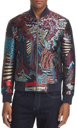 Paul Smith Dreamer Jacquard Print Bomber Jacket
