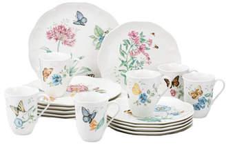 Lenox Butterfly Meadow 18 Piece Dinnerware Set, Service for 6