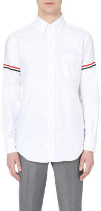 Thom Browne Signature-stripe regular-fit cotton-twill oxford shirt