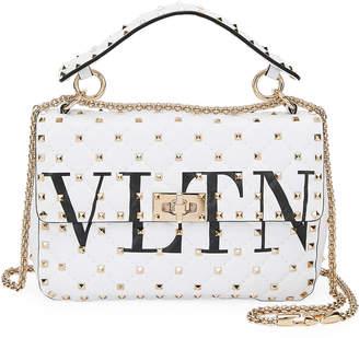 Valentino Garavani Spike.It Medium VLTN Logo Quilted Leather Shoulder Bag