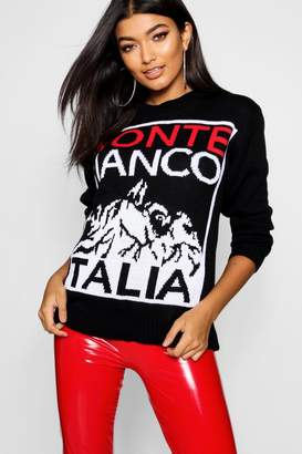 boohoo Monte Bianco Christmas Jumper