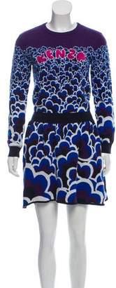 Kenzo Knit Embroidered Mini Dress