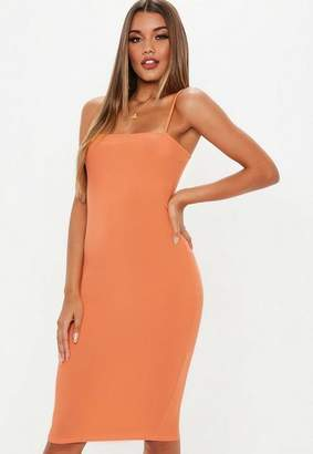 Missguided Strappy Cami Midi Dress
