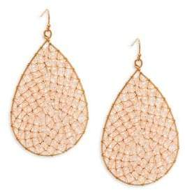 Panacea Crystal Beaded Teardrop Earrings