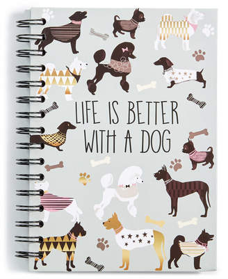 Chasing Baxter Dog Spiral Notebook
