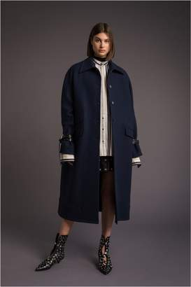 Sonia Rykiel Long Military Wool Coat