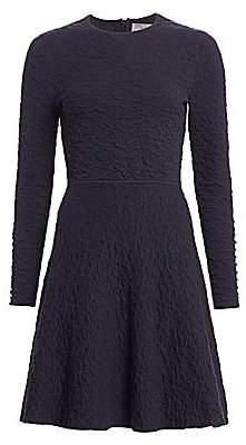 Lela Rose Women's Textured Knit Fit-&-Flare Dress