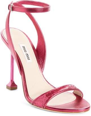 Miu Miu Sequin Pin Heel Sandal