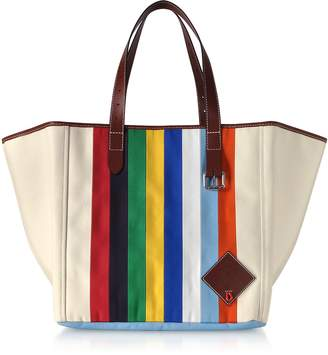 J.W.Anderson Vertical Stripes Canvas Tote Bag