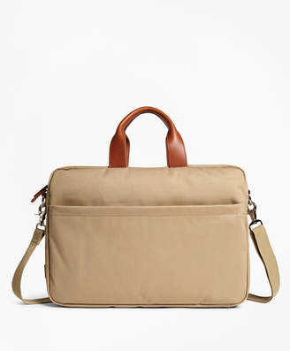 Brooks Brothers Brushed Cotton Twill Briefcase