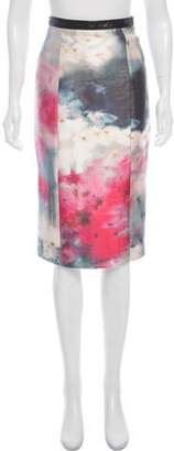 Honor Watercolor Pencil Skirt w/ Tags Pink Honor Watercolor Pencil Skirt w/ Tags