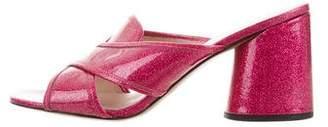 Marc Jacobs Glitter Slide Sandals