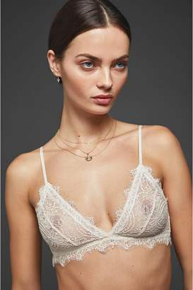 Anine Bing Lace Bra With Trim - Nude