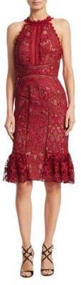 Marchesa Lace Knee-Length Dress