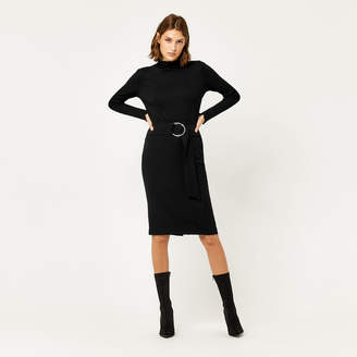 Warehouse O Ring Midi Skirt
