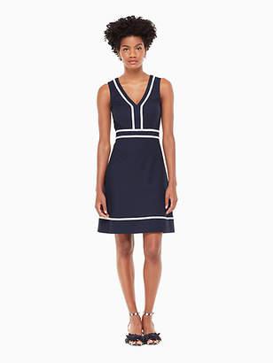 Kate Spade Solid jacquard a-line dress