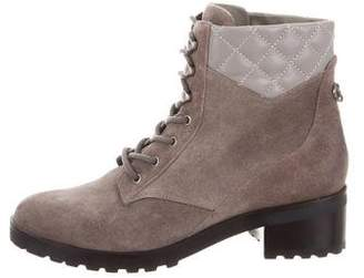 MICHAEL Michael Kors Suede Round-Toe Boots